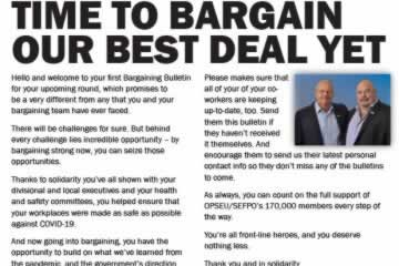 Time to bargain our best deal yet - 2021 LBED Bargaining Bulletin 1