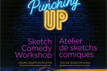 Rainbow alliance presents Punching up. A sketch comedy workshop with comedian Alice Rose. On April 13 and 15, from 7PM-8:30PM. This online Queer workshop will be conducted only in English.