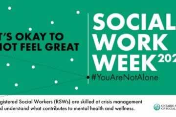 In the era of social distancing, Social Work Week and Month honour vital social workers
