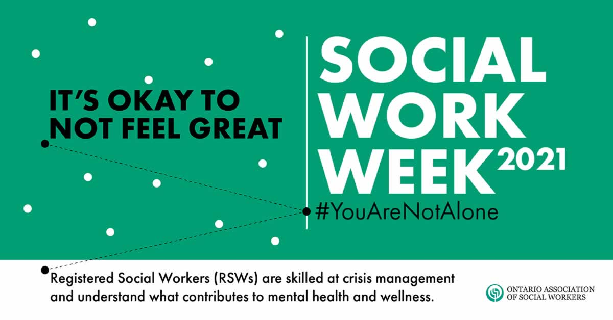 In the era of social distancing, Social Work Week and Month honour vital social workers