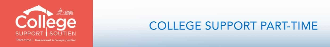 College Support Part-Time Banner