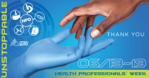 Unstoppable Hospital Professionals Division. Health Professionals Week. Proud to be a health professional.
